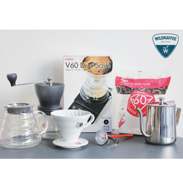 Wildkaffee Rösterei, Starter Set, Handfilter, Einsteiger