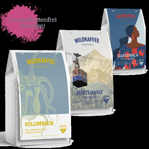Wildkaffee Rösterei, Probierpaket Vollautomat