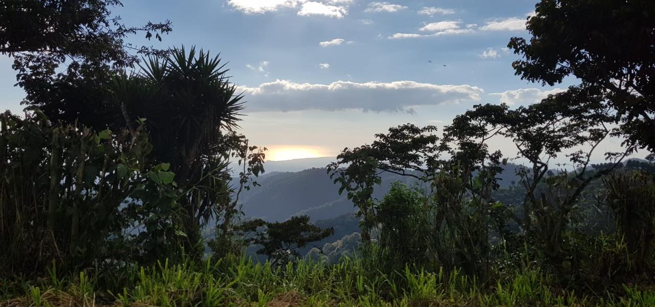 El Salvador Überblick von der Finca