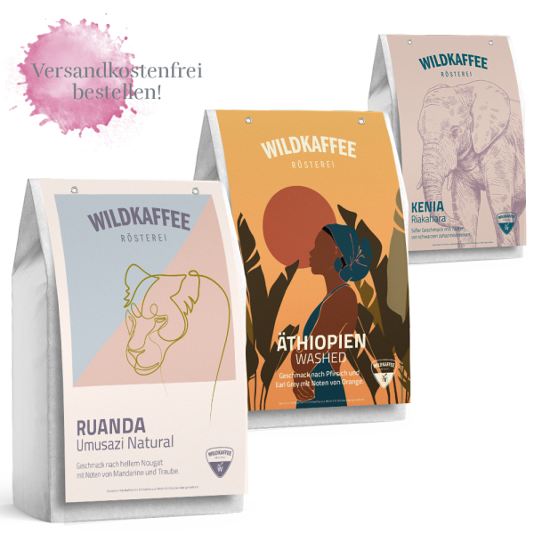 Wildkaffee Rösterei, Probierpaket Filterkaffee