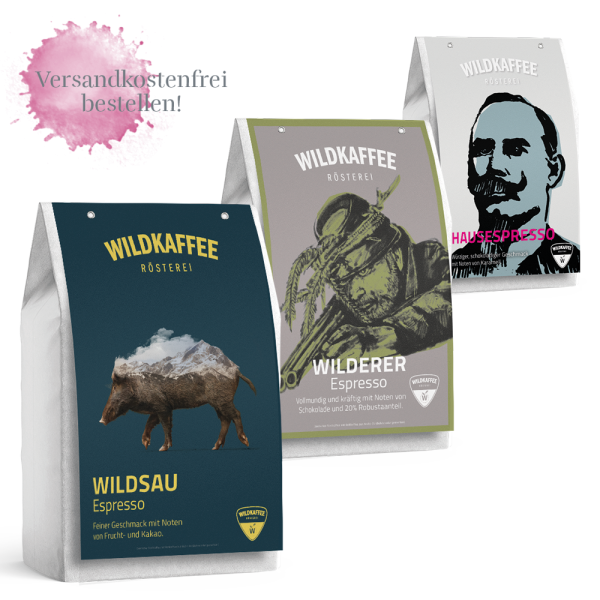 Wildkaffee Rösterei, Probierpaket Espresso