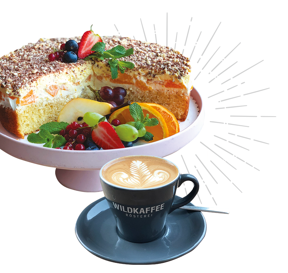 Kaffee und Kuchen im Wildkaffee Café