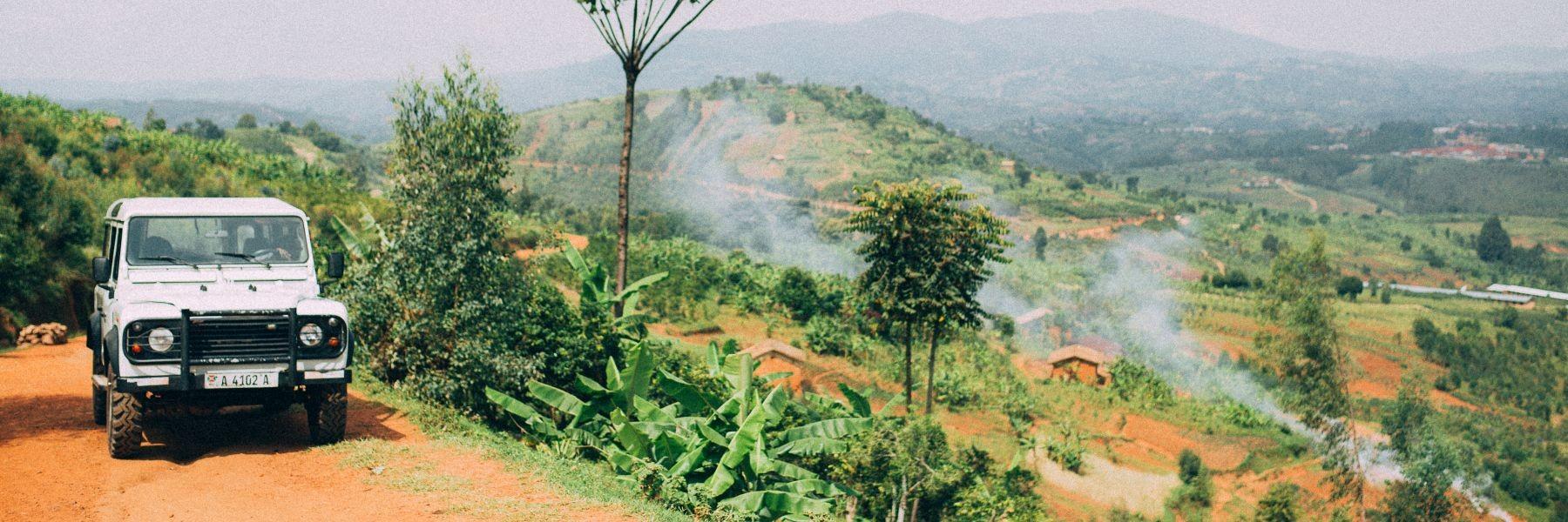 Aussicht auf Kaffee-Farm in Burundi